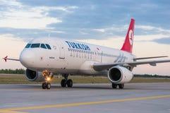 KIEV, DE OEKRAÏNE - JULI 10, 2015: Turkish Airlines Royalty-vrije Stock Foto's