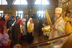 Kiev, de Oekraïne, 12 Maart 2016 Metropolitaans van Kiev Onufry conduc Royalty-vrije Stock Foto
