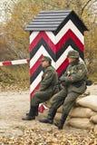 KIEV, DE OEKRAÏNE - 3 NOV. Niet geïdentificeerde leden van Rode Sterhistor Royalty-vrije Stock Foto