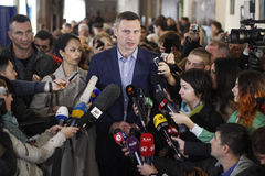 Kiev, de Oekraïne - Oct 25, 2015: Vitali Klitschko Royalty-vrije Stock Fotografie