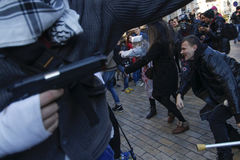KIEV, de OEKRAÏNE - Oktober 31, 2015: Halloween-viering in Kyiv Royalty-vrije Stock Foto