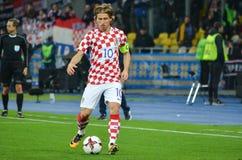KIEV, de OEKRAÏNE - Oktober 09, 2017: Luka Modric tijdens FIFA Wo royalty-vrije stock afbeelding