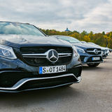 Kiev, de Oekraïne - OKTOBER 10, 2015: Mercedes Benz Stock Foto
