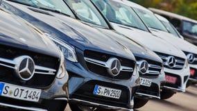 Kiev, de Oekraïne - OKTOBER 10, 2015: Mercedes Benz Royalty-vrije Stock Fotografie