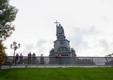 Kiev, de Oekraïne - September 10, 2013: Monument aan Prins Vladimir Stock Afbeelding