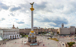 KIEV, DE OEKRAÏNE - SEPTEMBER 24, 2016: Onafhankelijkheidsvierkant Royalty-vrije Stock Afbeeldingen