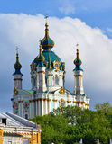Kiev, de Oekraïne St Andrew kerk Stock Fotografie