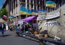 Kiev de stad in, op Maydan Nezalejnosti, de Oekraïne Royalty-vrije Stock Foto
