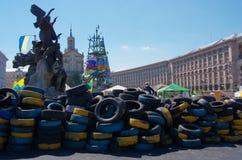 Kiev de stad in, op Maydan Nezalejnosti, de Oekraïne Royalty-vrije Stock Foto's