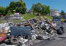 Kiev de stad in, op Maydan Nezalejnosti, de Oekraïne Royalty-vrije Stock Afbeelding