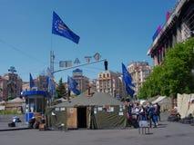 Kiev del centro, su Maydan Nezalejnosti, l'Ucraina Immagine Stock Libera da Diritti