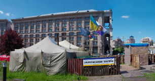 Kiev del centro, su Maydan Nezalejnosti, l'Ucraina Immagini Stock