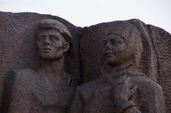Kiev: detalj av det frilufts- museet av det stora patriotiska kriget Arkivbilder