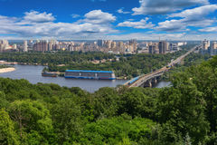 Kiev and Dnieper River Stock Photos