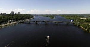 Kiev Dnipro panorama Ukraina lager videofilmer