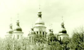 Kiev domes of Saint Sophia Cathedral 1964 Stock Photo