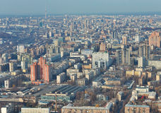 Kiev downtown aerial view Stock Image