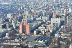 Kiev downtown aerial view Stock Images