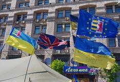 Kiev downtown, on Maydan Nezalejnosti, Ukraine Royalty Free Stock Image