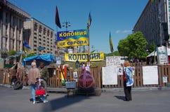 Kiev downtown, on Maydan Nezalejnosti, Ukraine Stock Images