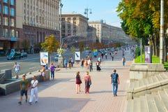 Kiev downtown street life. Ukraine Royalty Free Stock Photography