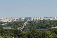 Kiev e o rio Dnepr Fotos de Stock Royalty Free