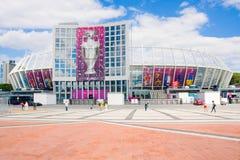 KIEV EL 16 DE JUNIO:: Estadio olímpico renovado del deporte en Ki Fotografía de archivo libre de regalías