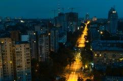 Kiev en la noche 1 Fotografía de archivo