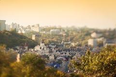 Kiev en la puesta del sol Fotografía de archivo libre de regalías