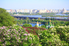 Kiev en sering in de lente Royalty-vrije Stock Afbeelding