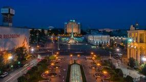 Kiev Evening Khreshchatyk from the height Royalty Free Stock Photo
