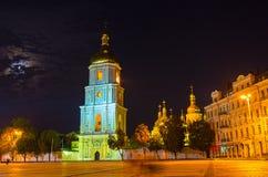 Kiev in evening Stock Photos