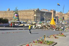 Kiev.Evromaydan today. Royalty Free Stock Photos