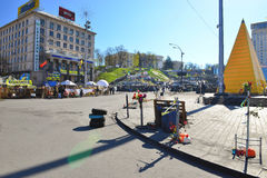 Kiev.Evromaydan today. Stock Photos