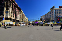 Kiev.Evromaydan today. Royalty Free Stock Images