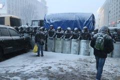 Kiev för konflikten Arkivbild