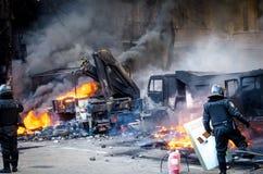 Kiev 19 febbraio 2014 fotografie stock