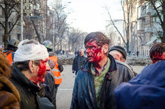 Kiev 19 februari 2014 Stock Fotografie