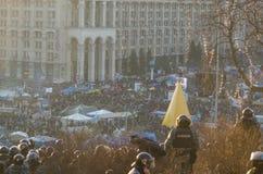 Kiev 19 februari 2014 Stock Foto