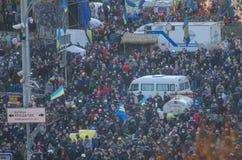 Kiev 19 februari 2014 Stock Foto's