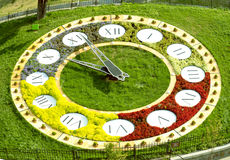 Kiev flower clock Stock Image