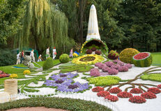 Kiev flowers festival. The Kiev flowers festival by Day of Independence of Ukraine stock photos