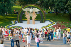 Kiev flowers festival Royalty Free Stock Photo