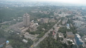 Kiev flyg- cityscapesikt, Ukraina lopp, Arkivfoto