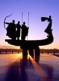 Kiev founders monument Royalty Free Stock Photos