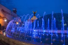 Kiev Fountains on Maidan Nezalezhnosti Stock Photography