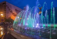 Kiev Fountains on Maidan Nezalezhnosti Stock Images