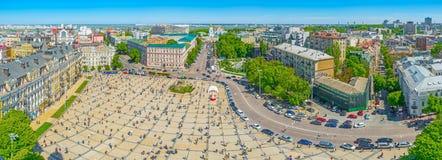 Kiev från luften Arkivfoto