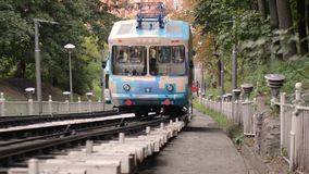 The Kiev funicular stock video footage