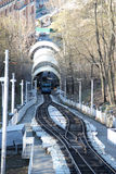 Kiev funicular railway Royalty Free Stock Photo